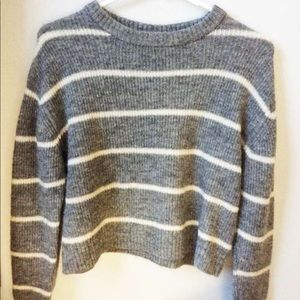 An H&M stripped cropped sweater! :)